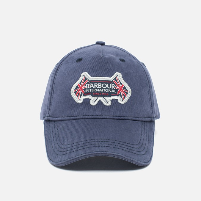 Barbour International Flags Cap Navy