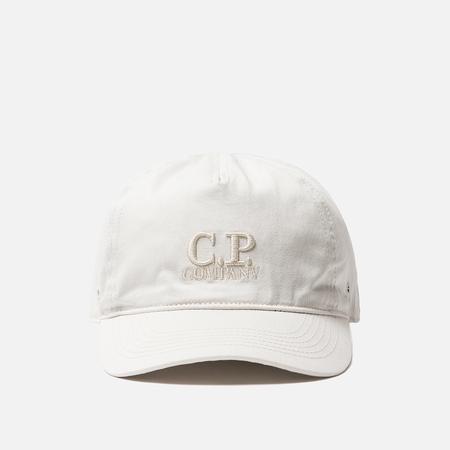 Кепка C.P. Company Goggle Baseball Logo Gauze White