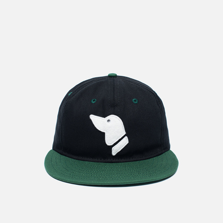 Ebbets Field Flannels Barbers Point Pointers Twill Cotton Cap Black/Dark Green