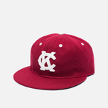 Кепка Ebbets Field Flannels Kansas City Monarchs 1942 Wool Burgundy фото- 1