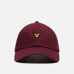 Кепка Lyle & Scott Cotton Twill Baseball Merlot