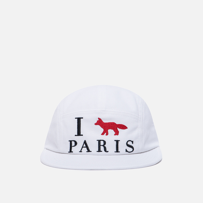 Кепка Maison Kitsune 5P I Fox Paris White