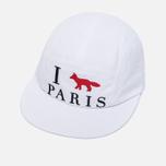 Кепка Maison Kitsune 5P I Fox Paris White фото- 2