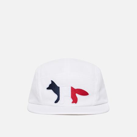 Кепка Maison Kitsune 5P Tricolor Fox White