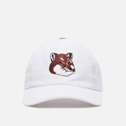 Кепка Maison Kitsune 6P Large Fox Head Embroidery White
