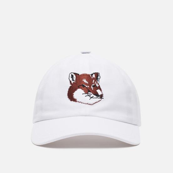 Кепка Maison Kitsune 6P Large Fox Head Embroidery White