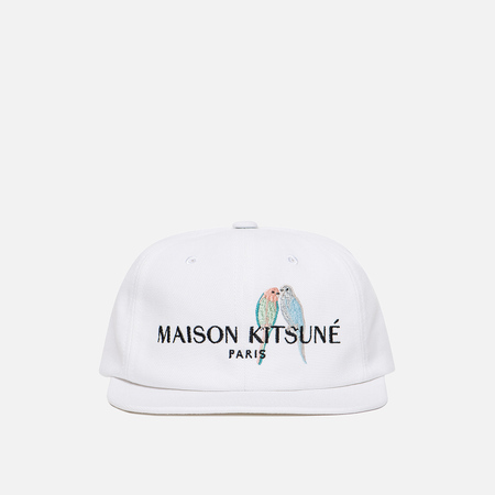 Кепка Maison Kitsune Baseball Love Birds Embroidery White