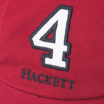 Мужская кепка Hackett Numbers Baseball Wine Red фото- 3
