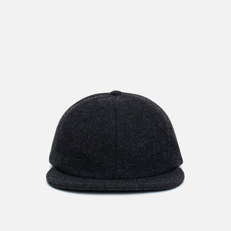 Norse Projects 6 Panel Kvadrat Cap Charcoal Melange