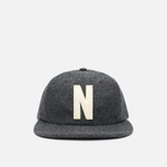 Кепка Norse Projects 6 Panel Flat Charcoal Melange фото- 0