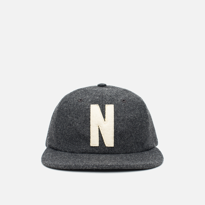 Кепка Norse Projects 6 Panel Flat Charcoal Melange