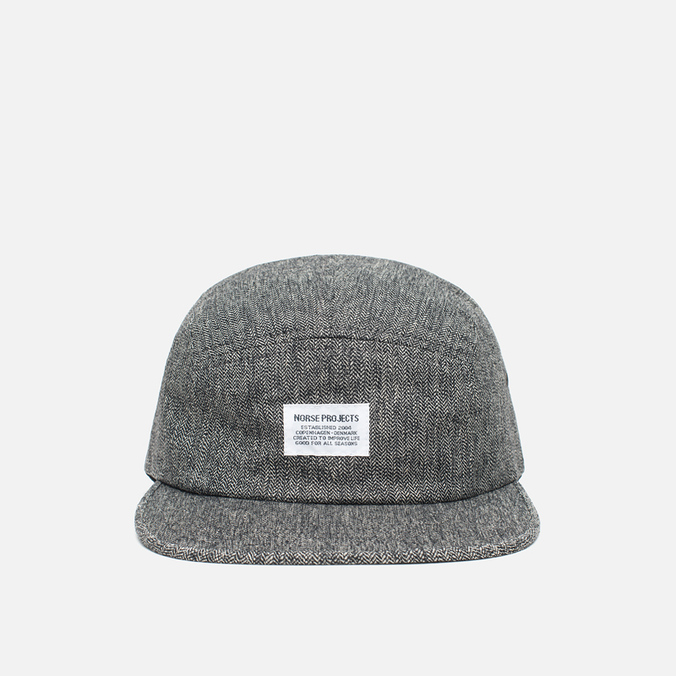 Кепка Norse Projects Herringbone 5 Panel Charcoal Melange