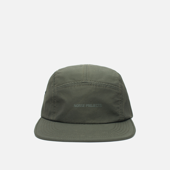 Кепка Norse Projects Light Nylon 5 Panel Rosin Green