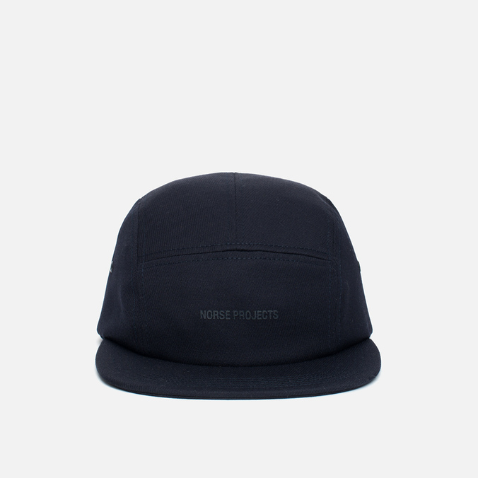 Norse Projects Loose Twill 5 Panel Cap Navy