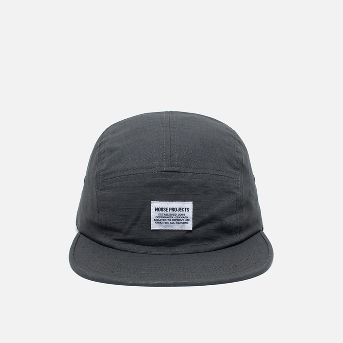 Кепка Norse Projects Ripstop 5 Panel Charcoal