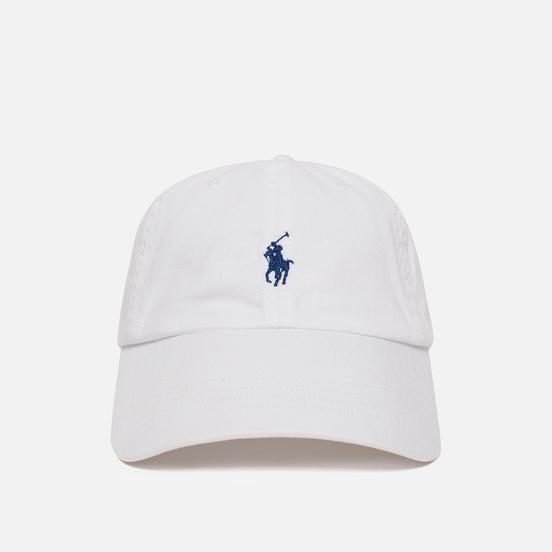 Кепка Polo Ralph Lauren Classic Baseball White/Marlin Blue