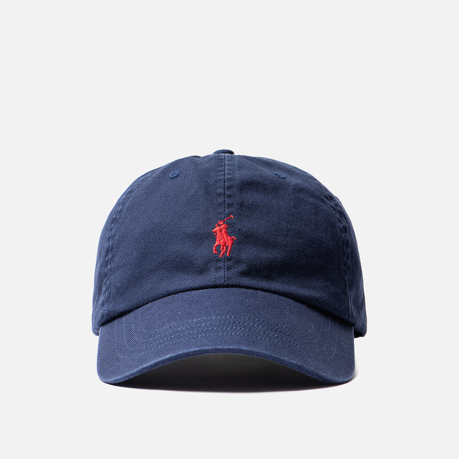 Кепка Polo Ralph Lauren Classic Sport Cotton Chino Newport Navy/Red Pony