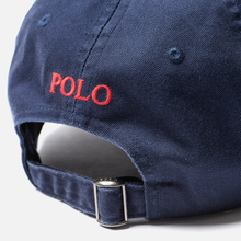Кепка Polo Ralph Lauren Classic Sport Cotton Chino Newport Navy/Red Pony фото- 3