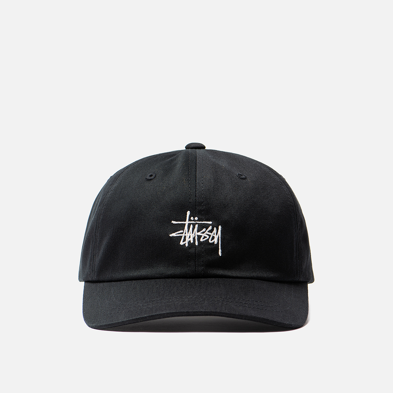 Кепка Stussy Stock Low Pro Embroidered Logo Black