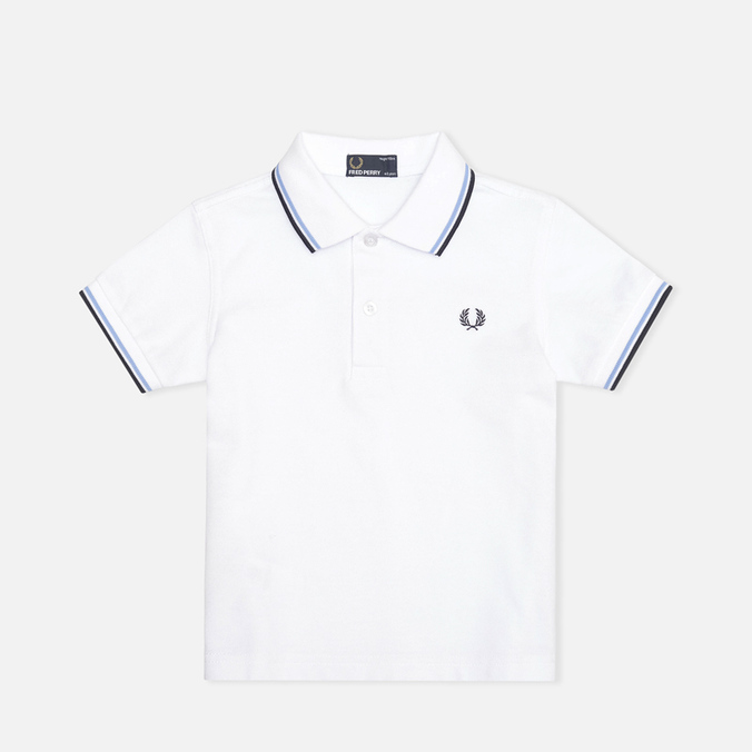 Fred Perry Twin Tipped Children's Polo White/Ice/Navy