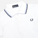 Fred Perry Twin Tipped Children's Polo White/Ice/Navy photo- 1