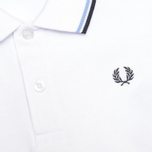 Fred Perry Twin Tipped Children's Polo White/Ice/Navy photo- 2