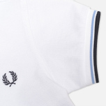 Fred Perry Twin Tipped Children's Polo White/Ice/Navy photo- 3