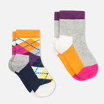 Детские носки Happy Socks 2-pack Argyle/Five Colour фото- 1