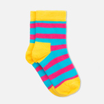 Детские носки Happy Socks 2-pack Hawaii Stripe Blue/Orange/Pink фото- 2