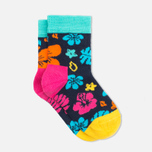Детские носки Happy Socks 2-pack Hawaii Stripe Blue/Orange/Pink фото- 3