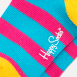 Детские носки Happy Socks 2-pack Hawaii Stripe Blue/Orange/Pink фото- 5