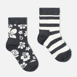 Детские носки Happy Socks 2-pack Hawaii Stripe Grey/White фото- 1