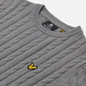 Мужской свитер Lyle & Scott Cable Jumper Mid Grey Marl фото - 1