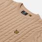 Мужской свитер Lyle & Scott Cable Jumper Sand Storm Marl фото - 1