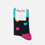 Комплект детских носков Happy Socks 2 Pack Heart Black/Blue/Orange/Pink/Yellow фото- 0