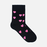Комплект детских носков Happy Socks 2 Pack Heart Black/Blue/Orange/Pink/Yellow фото- 2