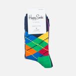 Happy Socks Argyle 2 Pack Children's socks Blue/Green/Orange/Purple/Red/Yellow photo- 0