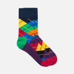 Happy Socks Argyle 2 Pack Children's socks Blue/Green/Orange/Purple/Red/Yellow photo- 1
