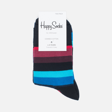 Комплект детских носков Happy Socks Big Dot 2 Pack Black/Blue/Red/White