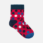Комплект детских носков Happy Socks Big Dot 2 Pack Blue/Red/White фото- 1