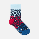 Комплект детских носков Happy Socks Block Leopard 2 Pack Blue/Red/White фото- 1