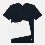 Armor-Lux Heritage 2 Pack Men's T-Shirts Double Pack White/Dark Navy photo- 5