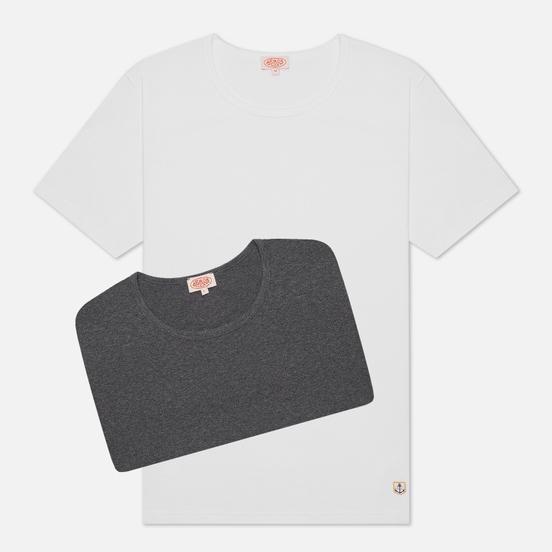 Комплект мужских футболок Armor-Lux Heritage 2 Pack White/Grey Chine
