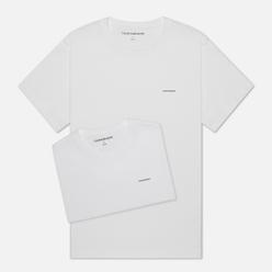 Комплект мужских футболок Calvin Klein Jeans 2 Pack Slim Bright White