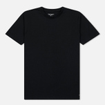 Комплект мужских футболок Carhartt WIP Standart Crew Neck Black/Black фото- 1