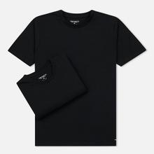 Комплект мужских футболок Carhartt WIP Standart Crew Neck Black/Black фото- 0