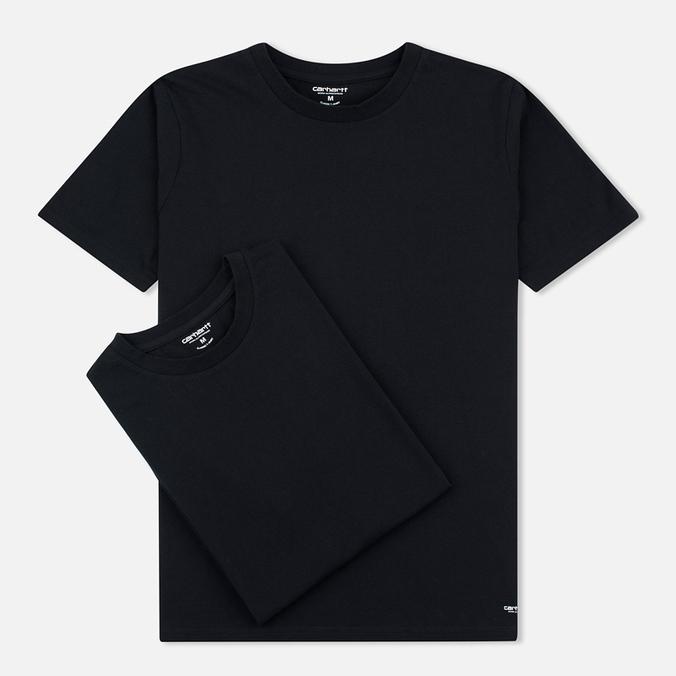 Комплект мужских футболок Carhartt WIP Standart Crew Neck Black/Black