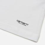 Комплект мужских футболок Carhartt WIP Standart Crew Neck White/Dark Navy фото- 6