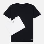 Комплект мужских футболок Carhartt WIP Standart Crew Neck White/Dark Navy фото- 0