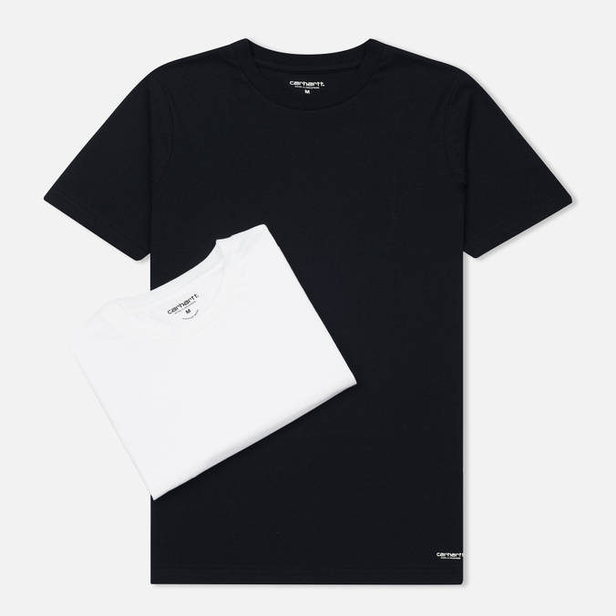 Комплект мужских футболок Carhartt WIP Standart Crew Neck White/Dark Navy